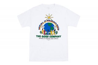<img class='new_mark_img1' src='https://img.shop-pro.jp/img/new/icons5.gif' style='border:none;display:inline;margin:0px;padding:0px;width:auto;' />WORLD FRIENDSHIP TEE - WHITE