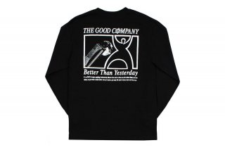 (The Good Company) VISIONS L/S TEE - BLACK