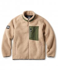 <img class='new_mark_img1' src='https://img.shop-pro.jp/img/new/icons5.gif' style='border:none;display:inline;margin:0px;padding:0px;width:auto;' />SHERPA FLEECE JACKET - KHAKI