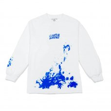 <img class='new_mark_img1' src='https://img.shop-pro.jp/img/new/icons5.gif' style='border:none;display:inline;margin:0px;padding:0px;width:auto;' />SPLATTER LONGSLEEVE TEE - WHITE