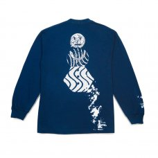 <img class='new_mark_img1' src='https://img.shop-pro.jp/img/new/icons47.gif' style='border:none;display:inline;margin:0px;padding:0px;width:auto;' />SPLATTER LONGSLEEVE TEE - NAVY