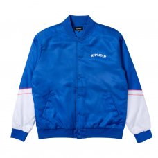 SHOW BIZ POLY VARSITY JACKET - BLUE