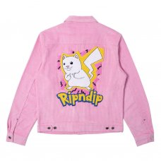 CATCH EM ALL CORDUROY JACKET - PINK