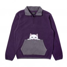 <img class='new_mark_img1' src='https://img.shop-pro.jp/img/new/icons5.gif' style='border:none;display:inline;margin:0px;padding:0px;width:auto;' />PEEK A NERMAL BRUSHED FLEECE 3/4 ZIP SWEATER - PURPLE/GREY
