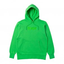 RUBBER LOGO HOODIE - LIME GREEN