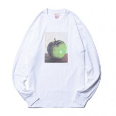 APPLE L/S TEE - WHITE