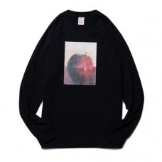 APPLE L/S TEE - BLACK