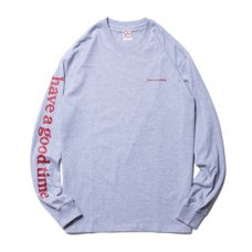 ARM SIDE LOGO L/S TEE - HEATHER GRAY