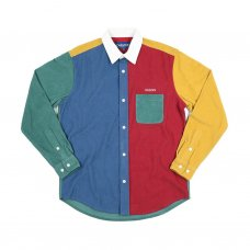 <img class='new_mark_img1' src='https://img.shop-pro.jp/img/new/icons5.gif' style='border:none;display:inline;margin:0px;padding:0px;width:auto;' />CORDUROY COLOR BLOCK SHIRT (MULTI)