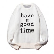 HAVE A GOOD TIME KNIT SWEATER - CREAM