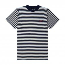 <img class='new_mark_img1' src='https://img.shop-pro.jp/img/new/icons5.gif' style='border:none;display:inline;margin:0px;padding:0px;width:auto;' />NEWPORT STRIPED TEE - NATURAL/NAVY