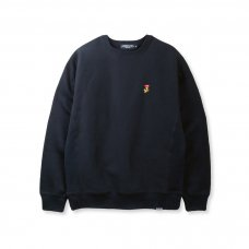 FLAME LOGO CREWNECK - BLACK