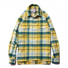 SIDE LOGO CHECKED SHIRTS - YELLOW
