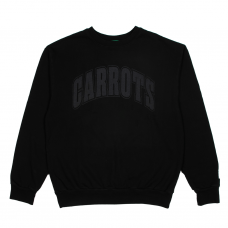 COLLEGIATE CREWNECK - BLACK