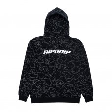 <img class='new_mark_img1' src='https://img.shop-pro.jp/img/new/icons5.gif' style='border:none;display:inline;margin:0px;padding:0px;width:auto;' />NERMAL LINE CAMO REFLECTIVE HOODIE - 3M BLACK