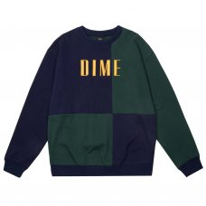 BLOCK TERRY CREWNECK - NAVY&GREEN