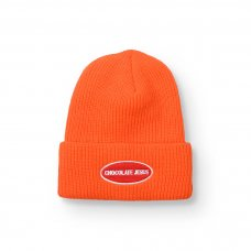 OVAL LOGO BEANIE - ORANGE