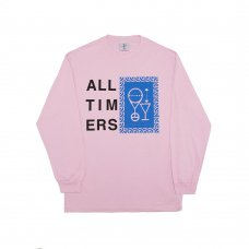 (Alltimers) ETCHING SKETCHY L/S TEE - PINK