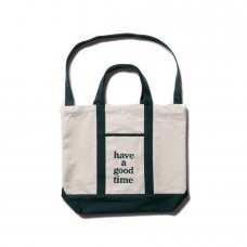 CANVAS LOGO TOTE - GREEN