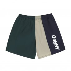 COLOR BLOCK TRACK SHORTS - GREEN/MULTI
