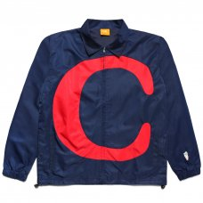 C NYLON TRACK JACKET - NAVY