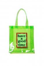 PVC CLEAR TOTE - GREEN