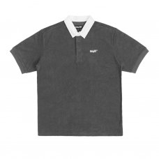 COURT TERRY CLOTH POLO SHIRT - CHARCOAL