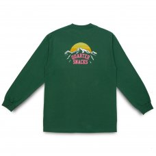 (QUARTER SNACKS) MOUNTAIN L/S TEE - FOREST GREEN