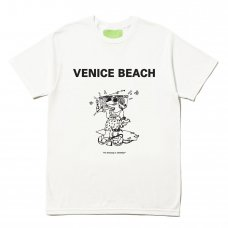 (Mister Green) VENICE BEACH DOG TEE - WHITE