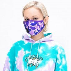 (RIPNDIP) VENTILATOR FACE MASK (PURPLE CAMO)