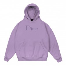 (Dime MTL) DIME CLASSIC LOGO EMBROIDERED HOODIE - LILAC