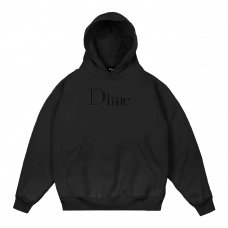 (Dime MTL) DIME CLASSIC LOGO EMBROIDERED HOODIE - BLACK