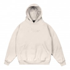 (Dime MTL) DIME CLASSIC LOGO EMBROIDERED HOODIE - CREAM