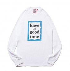 (have a good time) BLUE FRAME L/S TEE - WHITE