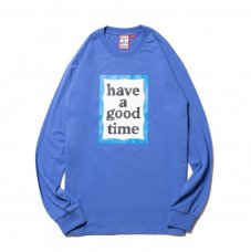 (have a good time) BLUE FRAME L/S TEE - AZURE