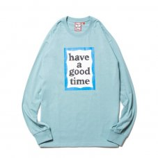(have a good time) BLUE FRAME L/S TEE - BLUE STONE