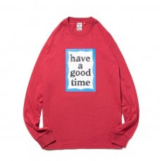 (have a good time) BLUE FRAME L/S TEE - CHERRY
