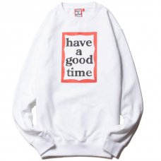 <img class='new_mark_img1' src='https://img.shop-pro.jp/img/new/icons5.gif' style='border:none;display:inline;margin:0px;padding:0px;width:auto;' />(have a good time) FRAME CREWNECK - WHITE