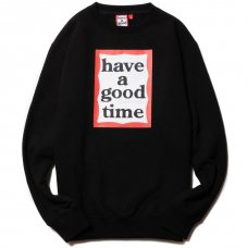 <img class='new_mark_img1' src='https://img.shop-pro.jp/img/new/icons5.gif' style='border:none;display:inline;margin:0px;padding:0px;width:auto;' />(have a good time) FRAME CREWNECK - BLACK