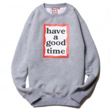 <img class='new_mark_img1' src='https://img.shop-pro.jp/img/new/icons5.gif' style='border:none;display:inline;margin:0px;padding:0px;width:auto;' />(have a good time) FRAME CREWNECK - HEATHER GRAY