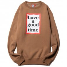 <img class='new_mark_img1' src='https://img.shop-pro.jp/img/new/icons5.gif' style='border:none;display:inline;margin:0px;padding:0px;width:auto;' />(have a good time) FRAME CREWNECK - CINNAMON