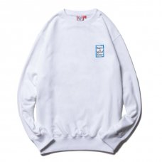 <img class='new_mark_img1' src='https://img.shop-pro.jp/img/new/icons5.gif' style='border:none;display:inline;margin:0px;padding:0px;width:auto;' />(have a good time) MINI BLUE FRAME CREWNECK - WHITE