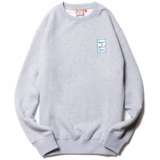 <img class='new_mark_img1' src='https://img.shop-pro.jp/img/new/icons5.gif' style='border:none;display:inline;margin:0px;padding:0px;width:auto;' />(have a good time) MINI BLUE FRAME CREWNECK - HEATHER GRAY