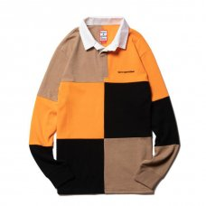 <img class='new_mark_img1' src='https://img.shop-pro.jp/img/new/icons5.gif' style='border:none;display:inline;margin:0px;padding:0px;width:auto;' />(have a good time) RUGBY SHIRT - BEIGE/ORANGE/BLACK