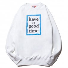<img class='new_mark_img1' src='https://img.shop-pro.jp/img/new/icons5.gif' style='border:none;display:inline;margin:0px;padding:0px;width:auto;' />(have a good time) BLUE FRAME CREWNECK - WHITE