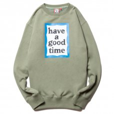 <img class='new_mark_img1' src='https://img.shop-pro.jp/img/new/icons5.gif' style='border:none;display:inline;margin:0px;padding:0px;width:auto;' />(have a good time) BLUE FRAME CREWNECK - SAGE