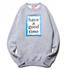 <img class='new_mark_img1' src='https://img.shop-pro.jp/img/new/icons5.gif' style='border:none;display:inline;margin:0px;padding:0px;width:auto;' />(have a good time) BLUE FRAME CREWNECK - HEATHER GRAY
