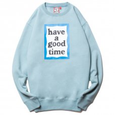 <img class='new_mark_img1' src='https://img.shop-pro.jp/img/new/icons5.gif' style='border:none;display:inline;margin:0px;padding:0px;width:auto;' />(have a good time) BLUE FRAME CREWNECK - BLUE STONE