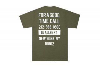 <img class='new_mark_img1' src='https://img.shop-pro.jp/img/new/icons5.gif' style='border:none;display:inline;margin:0px;padding:0px;width:auto;' />(The Good Company) GOOD TIME TEE - MILITARY GREEN/WHITE