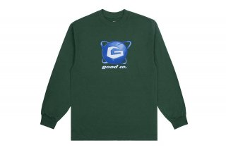 <img class='new_mark_img1' src='https://img.shop-pro.jp/img/new/icons5.gif' style='border:none;display:inline;margin:0px;padding:0px;width:auto;' />(The Good Company) GALAXY LONG SLEEVE - FOREST GREEN/MULTICOLOR